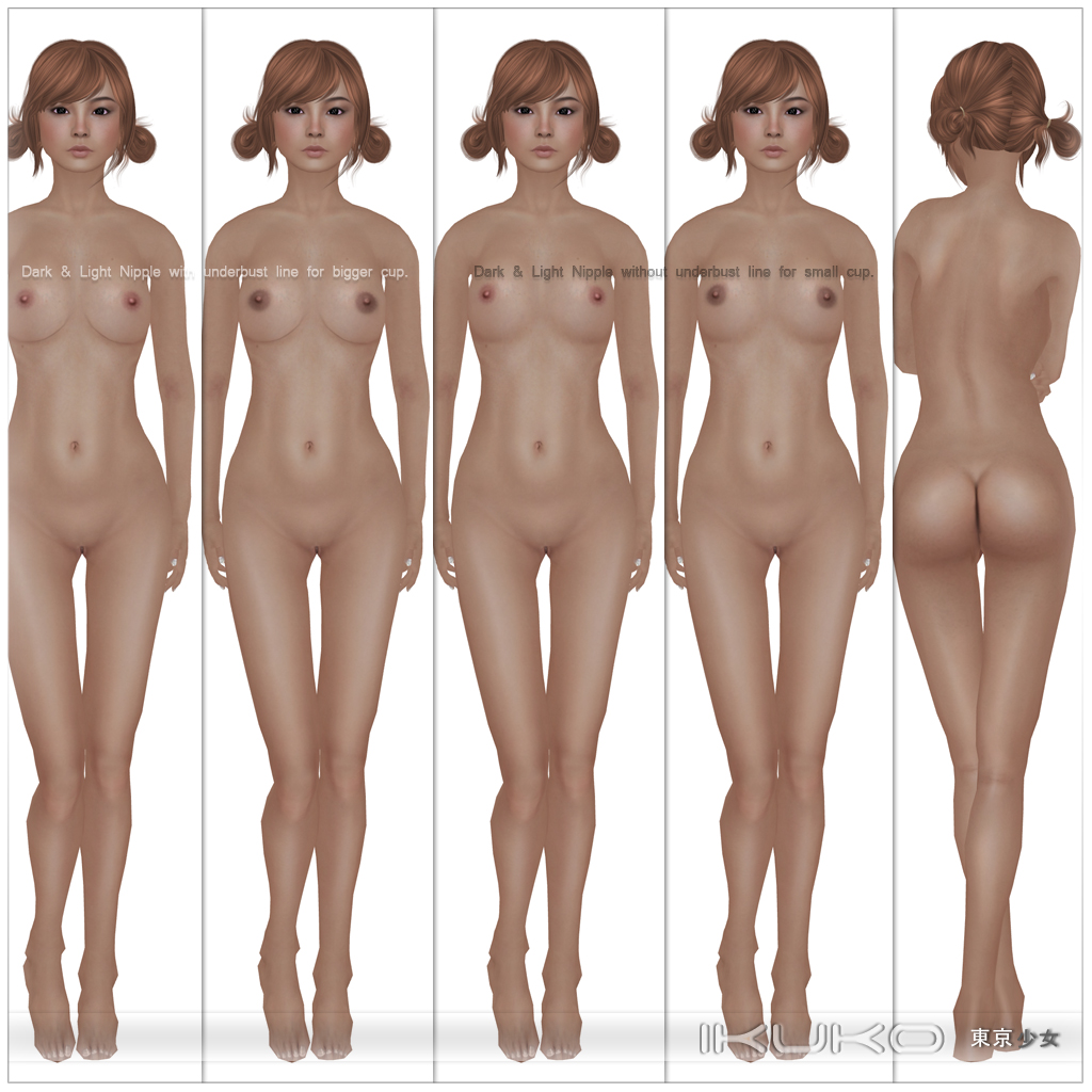nude body types females
