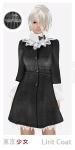 Tokyo.Girl Lirit Coat Black White Ad