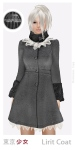 Tokyo.Girl Lirit Coat DimGrey Black Ivory Ad