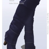 Tokyo.Girl . Lyke Boots . Blue Violet Ad