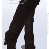 Tokyo.Girl . Lyke Boots . Dark Saddle Brown Ad