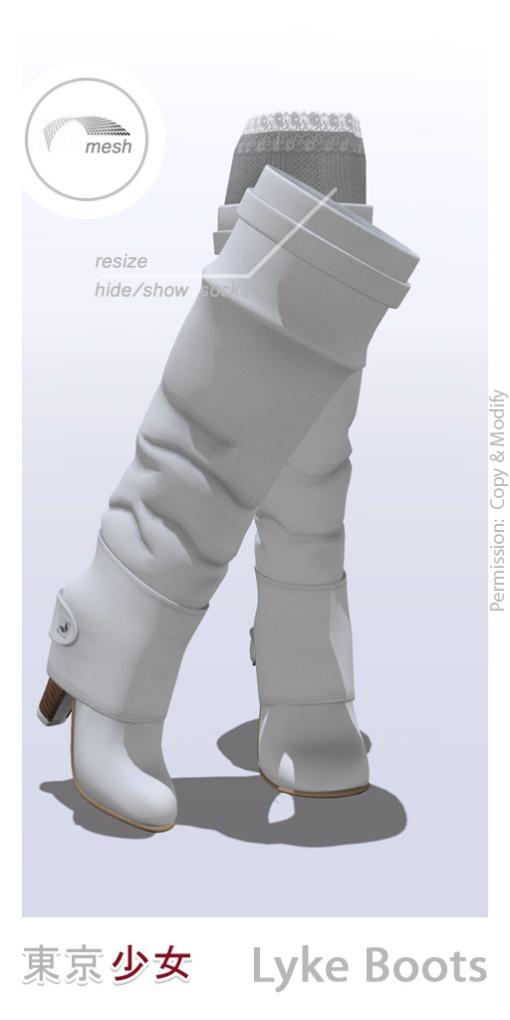 Tokyo.Girl . Lyke Boots . Snow Ad