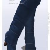 Tokyo.Girl . Lyke Boots . Steelblue Ad