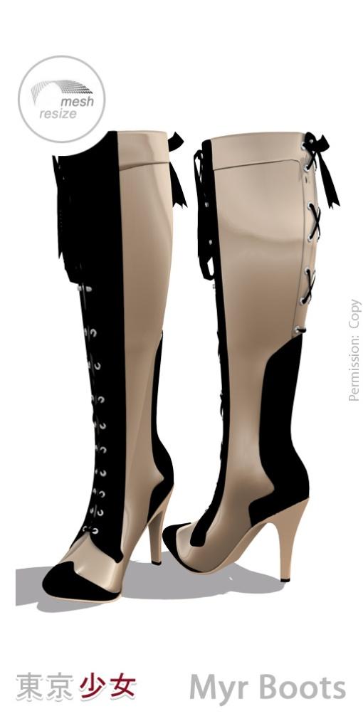 Tokyo.Girl . Myr Boots . Gold Ad