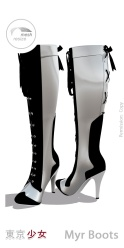 Tokyo.Girl . Myr Boots . Silver Ad